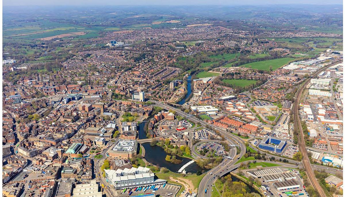 Derby Aerial View