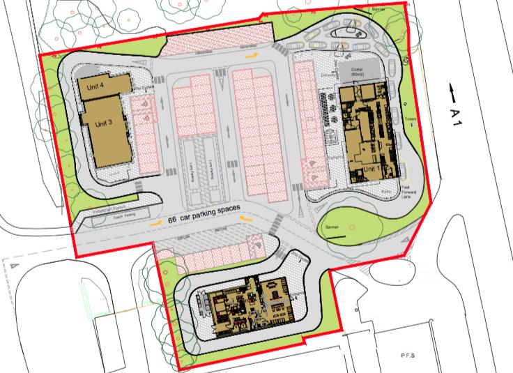 Roadside Retail Site Plan