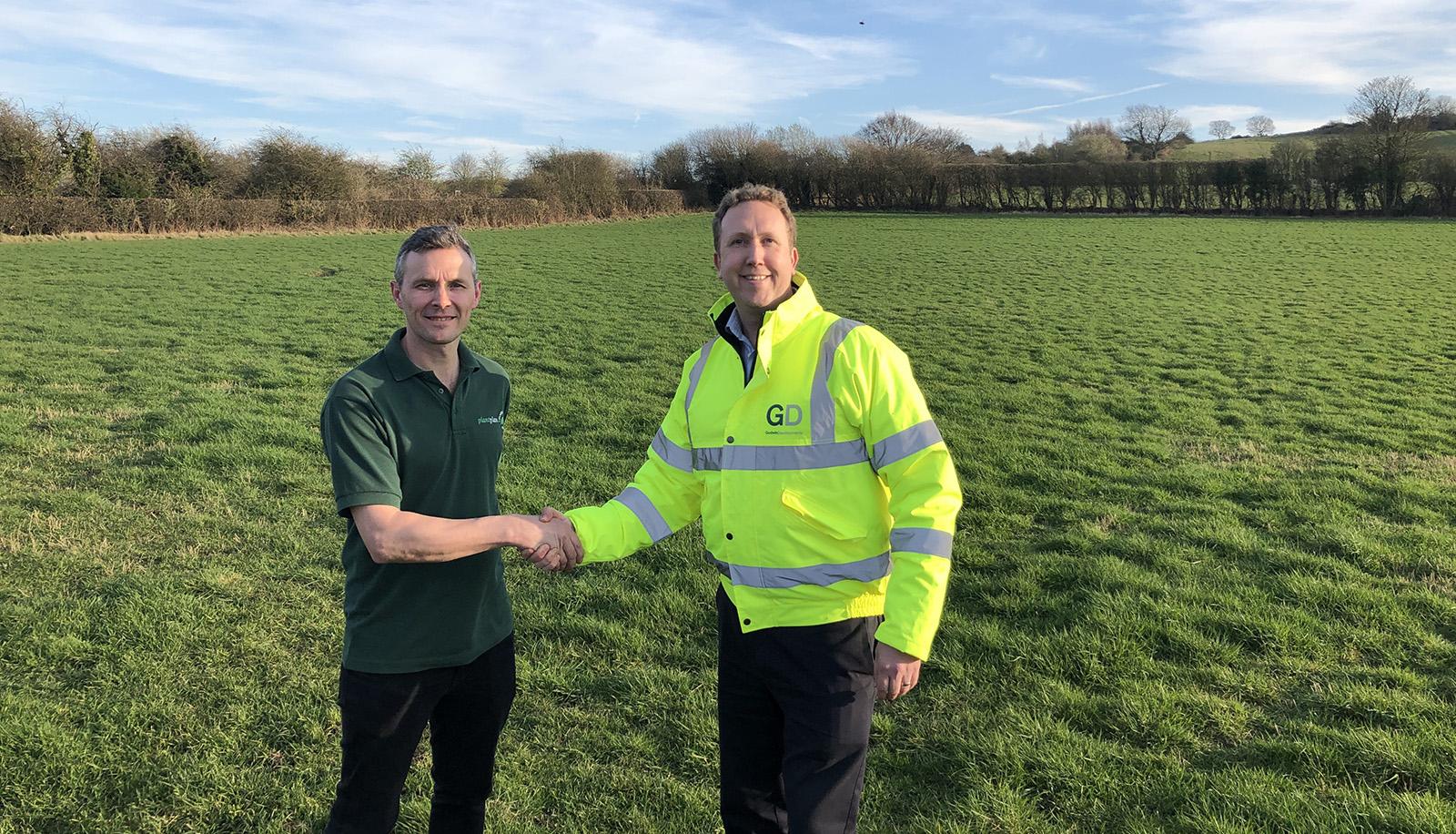Stuart Pratt and Mark Webster on site at Ashby Road