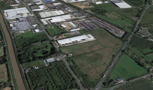 Wisbech Gateway Land Overhead