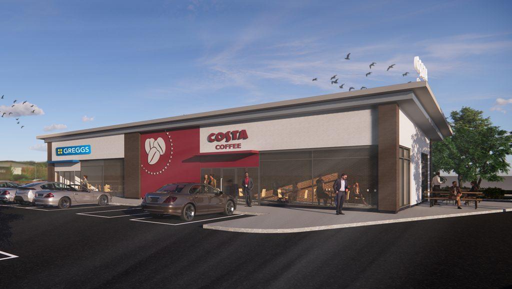 Costa Coffee & Greggs Roadside Retail